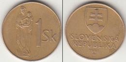 Slovacchia 1 Koruna 1993 KM#12 - Used - Slovacchia