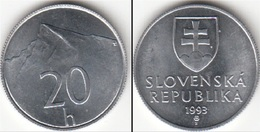 Slovacchia 20 Halier 1993 KM#18 - Used - Slovaquie