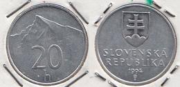 Slovacchia 20 Halier 1994 KM#18 - Used - Slovacchia