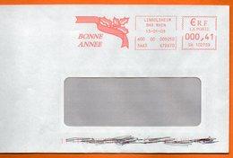 67 LINGOLSHEIM   BONNE ANNEE  2003  Lettre Entière 110x220 N° KK 748 - Marcophilie (Lettres)