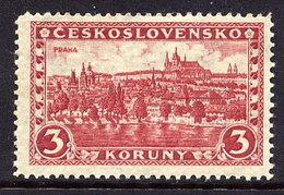 CZECHOSLOVKIA 1926 Definitive 3 Kc On Parchment Paper MNH / **.  Michel 254 - Czechoslovakia