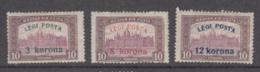 Hungary 1920 - 319-321 Mint Hinged * - Hungría