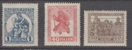 Hungary 1920 - 312-314 Mint Hinged * - Hungría
