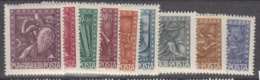 Hungary 1943 - 722-730 Mint Hinged * - Hungría