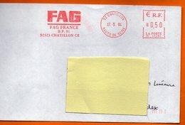 92 CHATILLON FAG FRANCE  2004  Lettre Entière 110x220 N° KK 751 - Marcophilie (Lettres)