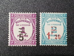 Taxe  N° 64/65  Neuf * Gomme D'µOrigine  TTB - Postage Due