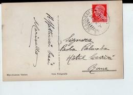 U3564 Annullo Storia Postale SESTRIERES (torino) Con Cartolina Con Alberghi _ Ed Fotocelere Di A Campassi - Vari
