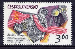 CZECHOSLOVKIA 1973 Cosmonauts 3.60 Kc With Diagonal Lines, Used.  Michel 2136 II - Czechoslovakia
