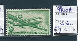 BELGIUM  COB PA10A WHITE PAPER MNH - Luftpost