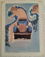 AFFICHE ANCIENNE ART DECO Illustrée Représentant Une Femme Nue Assise Sur Une Rolls Royce - Voiture Auto Locomotion - Cars