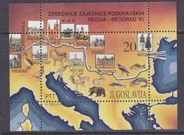 Yugoslavia 1991 Danube M/s ** Mnh (41273) - Blokken & Velletjes