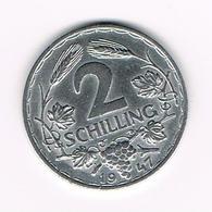 OOSTENRIJK  2 SHILLING 1947 - Autriche