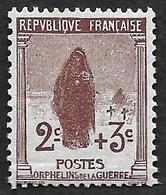 FRANCE 1917-18 -  Y&T  148 - Orphelins  1° Série - NEUF* - Cote 15e - France