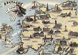 HOMUALK  BRETAGNE  LE LEON OCCIDENTAL  RV - Maps