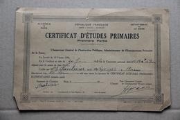 Certificat D'Etudes Primaires, Première Partie, Seine, 1935 - Diploma & School Reports