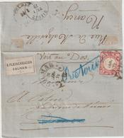 LAC E. Fleischhauer, 1 Gr O.fer à Cheval Colmar -> Dieuze 1872 Retournée. - Poststempel (Briefe)