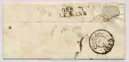 C23- DEB 71 / LE MANS  Sarthe 1825 - Marcophilie (Lettres)