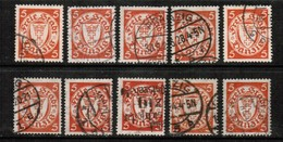 DANZIG   Scott # 170 USED WHOLESALE LOT OF 10 (WH-260) - Stamps