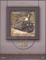 AUSTRIA ÖSTERREICH 2014 125 Jahre Steyrtalbahn (Block)    USED / O / GESTEMPELT - Blocks & Sheetlets & Panes