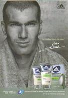 "Carte Postale ""Cart'Com"" - After Shave Adidas - Zidane (parfum - Cosmétique) - Sportifs"