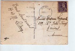 U3571 Nice Stamp And Timbre 1939 On MENTON Postcard: Vue Prise Du Cap Martin _ Storia Postale - Francia