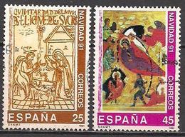 Spanien  (1991)  Mi.Nr.  3016 + 3017  Gest. / Used  (3ab38) - 1931-Heute: 2. Rep. - ... Juan Carlos I