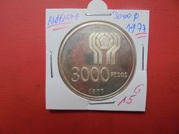 ARGENTINE 3000 PESOS 1977 ARGENT - Argentina
