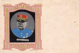 La Grande Guerre 1914 / 1918 - Général JOFFRE - Portrait Sur Soie - War 1914-18