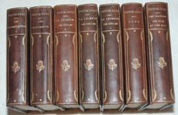 JOLI ENSEMBLE RELIE DES OEUVRES POETIQUES DE VICTOR HUGO  VERS 1890 7 VOl. IN-16 - 1801-1900