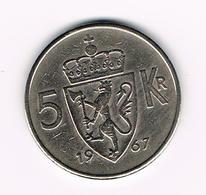 &  NOORWEGEN  5 KRONER 1967 - Norvège