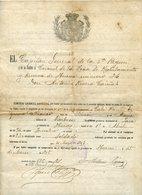 ESPAGNE ARAGON DOCUMENT 1908 EL CAPITAN GENERAL DE LA 5è REGION HUESCA - Documents