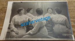 SURREALISME : Carte Photo Surréaliste - Le Même Femme En 5 Exemplaires - Fotografía