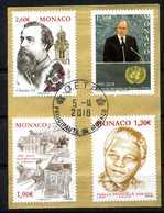 MONACO . Série Commémorations + Mandéla Du 2eme Semestre 2018 Oblitérée   (2694) - Monaco