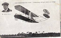 39  AB CPA Wright Sur Son Aéroplane(petite Déchirure - Aviateurs