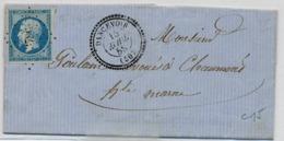 C25-Dancevoir  Haute Marne - Marcophilie (Lettres)