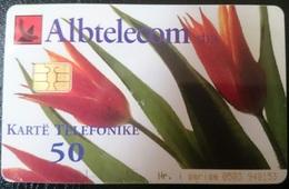 ALBANIA_Flowers_Tulip_Albtelekom_ALB-63_2001_TIRAGE(200,000) - Albania