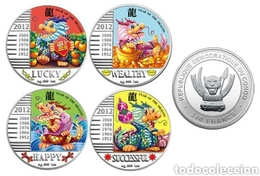 Congo 2012 Year Of Dragon  . 4 Oz Proof Silver. - Kongo (Dem. Republik 1998)
