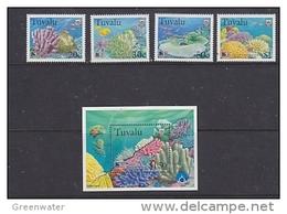 Tuvalu 1998 Greenpeace / Corals 4v + M/s  ** Mnh (41280) PROMO - Tuvalu
