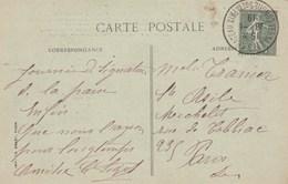 Cachet VERSAILLES CHATEAU CONGRES DE LA PAIX  1919 Sur Carte Postale  Trianon - France
