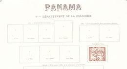 PANAMA DEPARTEMENT DE LA COLOMBIE  RARE Timbre 1887.sur Feuille D Album - Panama