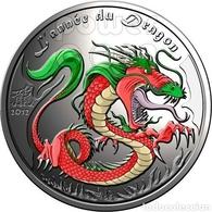 Benin 2012 Year Of Dragon  . Proof Silver.Original Box And Coa - Benin