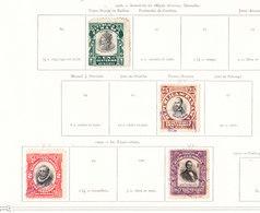 PANAMA Timbres Anciens 1906. Sur Feuille D Album - Panama