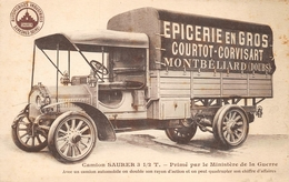 Montbéliard Camion Saurer épicerie Courtot Corvisart - Montbéliard