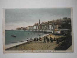 06 Menton, La Vieille Ville Et La Plage (pêche à La Traîne)  (4735) - Menton
