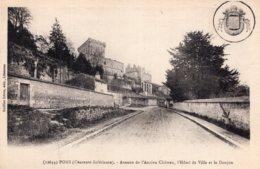 1587 - Cpa 17 Pons - Avenue De L'ancien Château - Pons