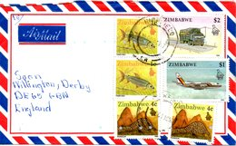 ZIMBABWE. Belle Enveloppe Ayant Circulé En 1997. - Zimbabwe (1980-...)