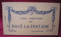 DOUÉ LA FONTAINE - Les Arènes,lot De Deux Carnets,vues Intérieures Et Extérieures,20 Cartes Au Total. - Doue La Fontaine