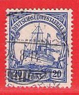 MiNr. 14 O  Deutschland Deutsche Kolonie Deutsch-Südwestafrika - Kolonie: Duits Zuidwest-Afrika