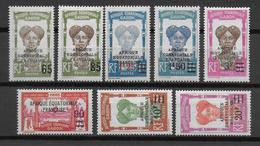 GABON - YVERT N°108/115 * MLH - COTE = 59.5 EUR. CHARNIERE LEGERE - Unused Stamps