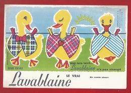 BUVARD  - LESSIVE LAVABLAINE - ILLUSTRATION -  TROIS PETITS CANARDS ÉTENDUS AU SOLEIL - STE-MARIE-AUX-MINES - Wash & Clean